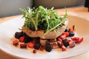 Roasted-Root-Vegetables-Baked-Portobello-Mushroom-Frisee-Salad-3